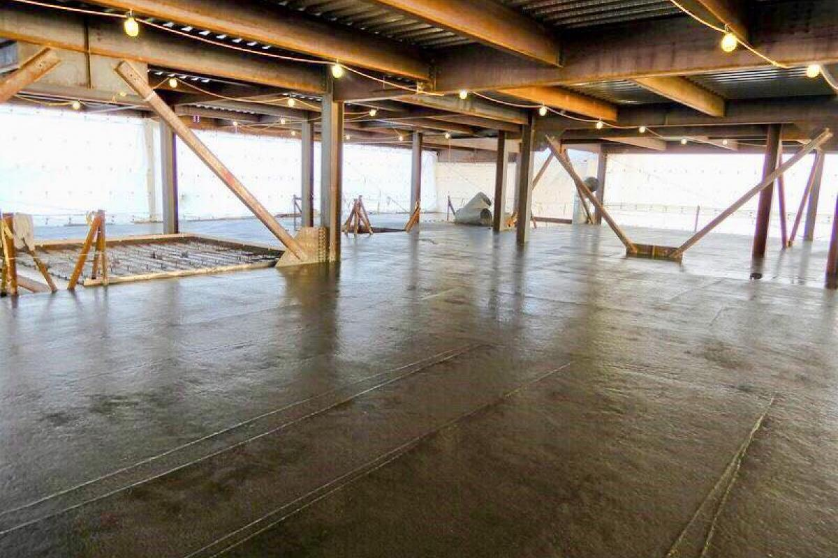 The first floor slab concrete placements at the new Middle-High School