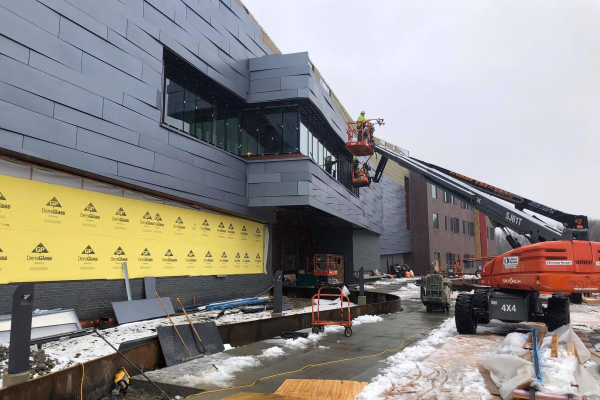 Construction is progressing quickly and smoothly in February 2020