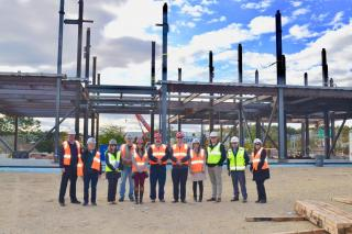 Building Committee Members Take a Site Visit of the new Middle-High School