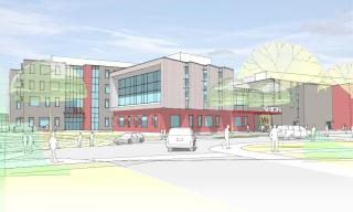 Rendering of the Proposed New Middle-High School